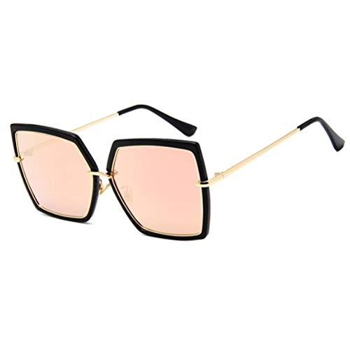 MESST Modische Wilde Bunte Mercury-Brille, große Sonnenbrille, personalisierte Polygon-Face-Lift-Sonnenbrille 3081,D