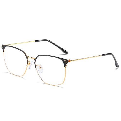 Sonnenbrillen Mode Geschäfts-Flacher Glasrahmen-Metallhalbkasten unter Verwendung der Wiederherstellungs-Alten Weisen Männer und Frauen LUE Shading Glasses für Sutdents/Büroangestellter