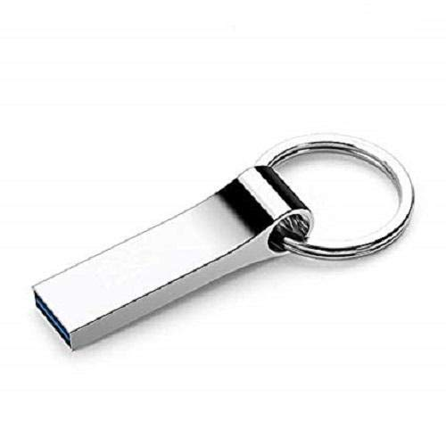 stainless steel Flash Pendrives Memory - USB 2.0 stainless steel USB Flash Drive Key Chain Pen Drive 128GB usb stick Pendrives Memory Stick