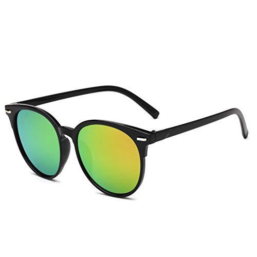 Sunglass -Koreanische Version Von Retro Sunglasses Für Männer Und Frauen,Grünes Gelb