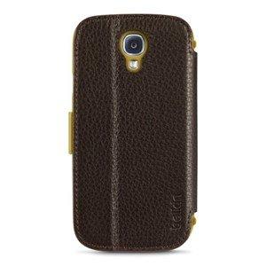 Belkin Premium Leder Folio (geeignet für Samsung Galaxy S4) dunkelbraun -