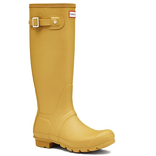 Hunter Damen Original Tall Schnee Gummistiefel Wasserdicht Stiefels - Brandschwefel - 37 (Gelb Hunter Stiefel Frauen)