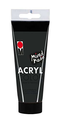 - Acryl Color 100 ml, schwarz (Schwarze Acrylfarbe)