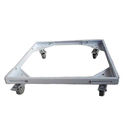 FCXBQ Edelstahl-Waschmaschinensockel-Transportbehälter für Kühlschrank-Trocknerhalterung (Größe: 60-78 cm & Times; 37-55 cm)