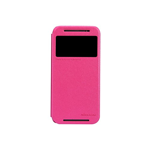 Nillkin Sparkle Leather Flip Stand Bumper Back Case Cover For HTC One M8 - Pink  available at amazon for Rs.399