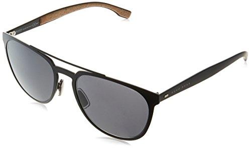 BOSS Hugo Herren 0882/S Ir Sonnenbrille, Schwarz (Matt Black/Grey Blue), 57