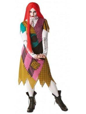 Jack Skellington Kleider - Rubie's Offizielles Nightmare Before Christmas Sally-Kostüm,