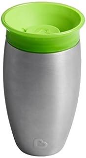 Munchkin Miracle 360ᵒ Edelstahl-Trinkbecher, Edelstahl/grün (Green), 296 ml (B0749Z29DL) | Amazon Products