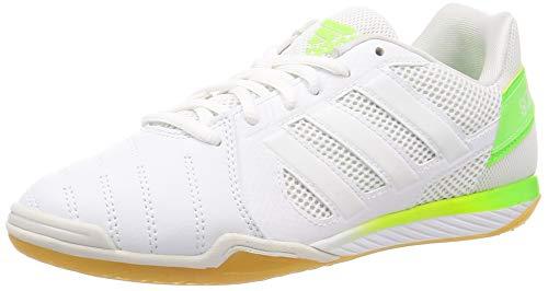 Adidas Top Sala, Zapatillas Deportivas Fútbol Hombre, Blanco (FTWR White/FTWR White/Signal Green)