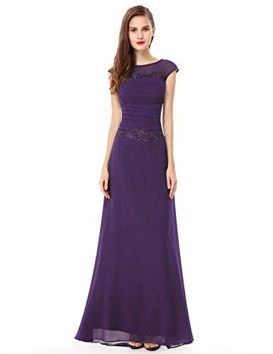 Ever Pretty Robe de cocktail Longue Traine 08369 Violet fonce
