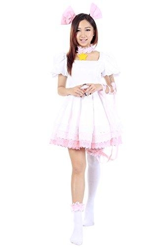 De-Cos Cardcaptor Cosplay Sakura Kinomoto Sakura Pink Dress 3rd Ver (Kostüme Cardcaptor Sakura Cosplay)
