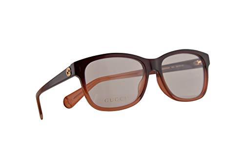Gucci GG0374OA Brillen 55-16-145 Braun Mit Demonstrationsgläsern 003 GG 0374OA (Kontaktlinsen Designer,)