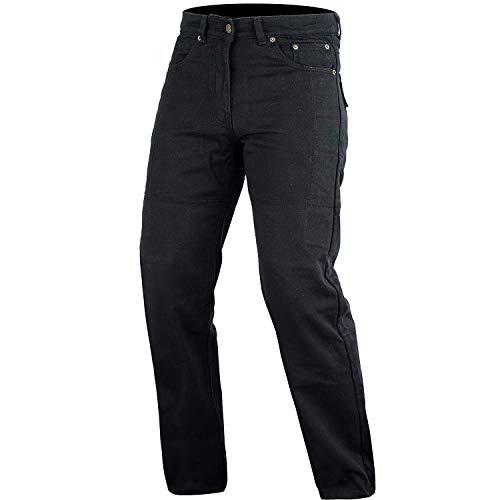 Bikers Gear Australia Motocicleta negro DuPontTM Kevlar jeans corte clásico con fibra...