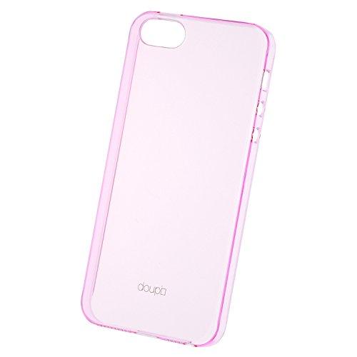 doupi Crystal AllClear - Reloaded - Coque de protection pour Apple iPhone 5 5S iPhone SE Etui Nouveau design 2. génération Case Bumper Cover transparent rose Transparent-Pink