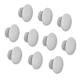 Gedotec Möbel-Abdeckkappen rundlich Schrauben-Kappen rund Blindstopfen zum Eindrücken   H1116   Ø 8 mm   für Blindbohrung   Kunststoff grau   100 Stück