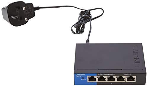 Linksys LGS105-UK Conmutador de red no administrado Gigabit Ethernet (10/100/1000) Negro switch - Switch de red (No administrado, Gigabit Ethernet (10/100/1000))