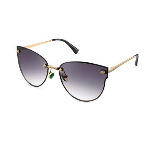 BYCSD Exquisite Runde Polarisierte Cat Eye Sonnenbrillen Für Frauen Klassische Einzigartige Driving Eyewear Master Design Umfassender UV-Schutz (Farbe : Bright Black)