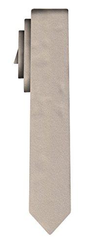 BOSS Seidenkrawatte solid beige /6cm