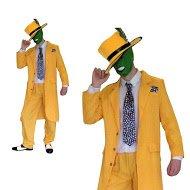 Herren 90er Abendkleid Maske Jim Carrey Outfit (Männer: Groß) (Cowboys Outfit)