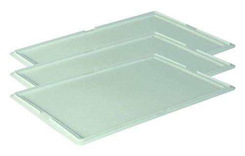 3 Stk. Deckel Pizzaballenbehälter Teigbehälter Stapelbox Teigbox 60x40cm