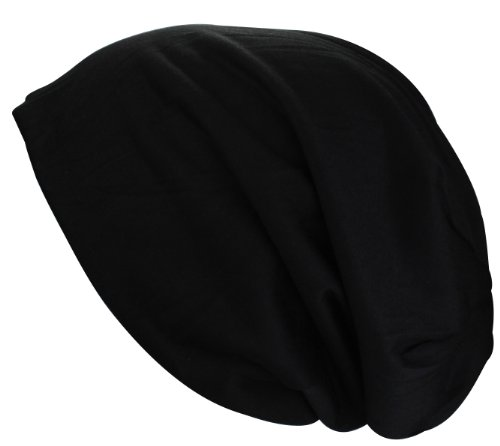 Alex Flittner Designs Bonnet Jersey long XL en noir