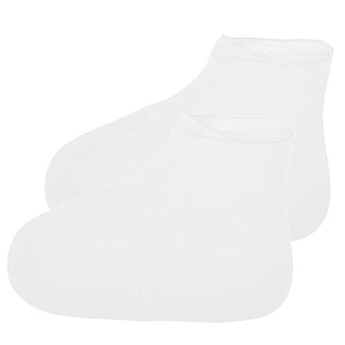 YooGer Wiederverwendbare Wasserdichte Anti-Rutsch-Latex-Schuh-Abdeckung, Regen Schuhe Abdeckung Schnee Überschuhe für Männer Frauen Mädchen Jungen (weiß, L)