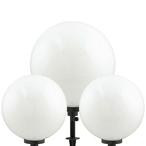 set 3 lampada a sfera plugin stand