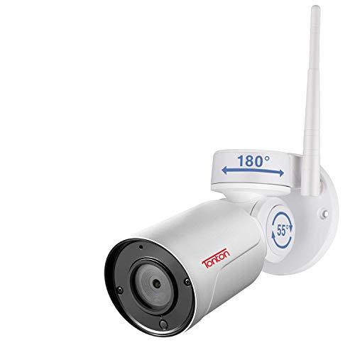 Tonton Full HD 1080P PTZ WLAN IP Kamera mit Audioübertragung, Digital Zoom Remote, 180°Pan, 55°Tilt, Fernzugriff, Wasserfest für Aussen, Innen, Haus Sicherheit (Nur für Tonton NVR System) -