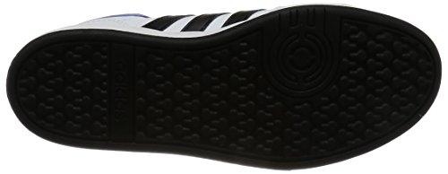 adidas Hoops MID K B74656 Jungen Schnürstiefelette Kaltfutter Weiß (Weiß)