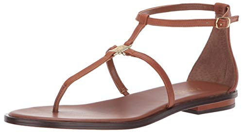 Lauren by Ralph Lauren Damen Sandale Nalaine, Beige (Deep Saddle Tan), 38.5 EU (Schuhe Damen Lauren Ralph)