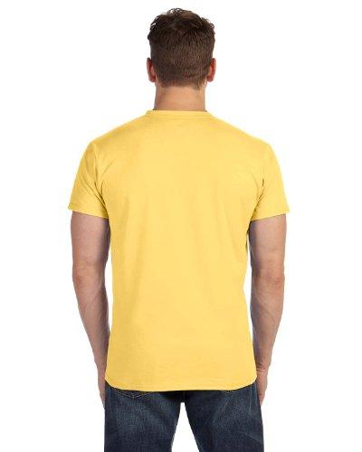 Hanes Mens Nano-T V-Neck T-Shirt Vintage Gold