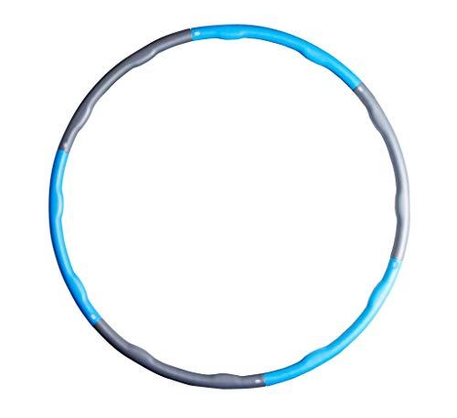 SportVida Hula Hoop Reifen Fitness für Erwachsene Bauchtrainer | Trainingsgerät mit Schaumstoffüberzug | Durchmesser 100cm (Blau)