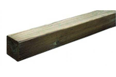 Intermas M100358 Poteau en bois classique pour clôture 7 x 7 x 100 cm