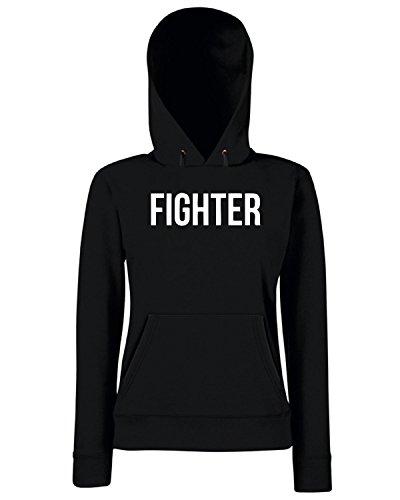 T-Shirtshock - Sweats a capuche Femme OLDENG00495 fighter Noir