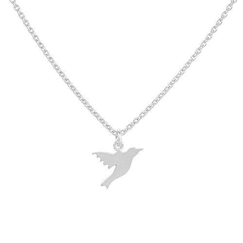 PERNILLE CORYDON Halskette Damen HUMMINGBIRD KOLIBRI Vogel-Anhänger Echtschmuck aus 925er Sterling Silber variable Länge 40-48 cm N300s