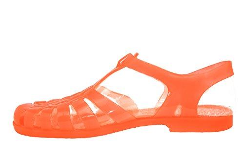 Andres Machado - AM188 - Sandalen Kunststoff Transparent Leuchtkorall