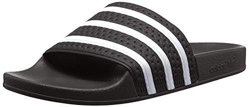 Adidas adilette, ciabatte unisex - adulto, nero (black), 43 1/3 eu