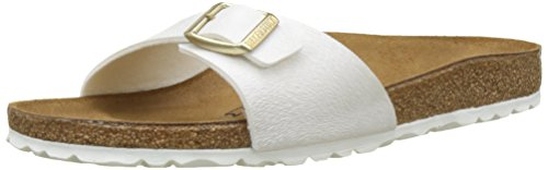 BIRKENSTOCK Damen Madrid Pantoletten, Weiß (Animal Fascination Offwhite), 39 EU (Leder-sohle-lace Up Schuh)