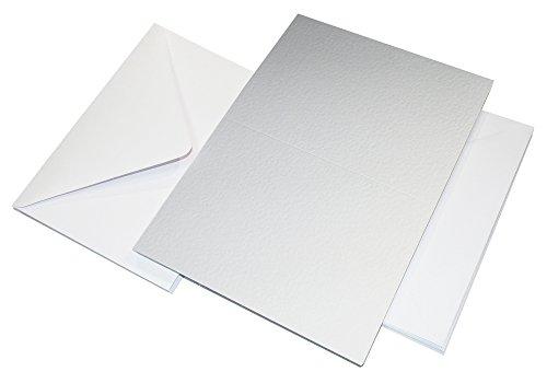 formato A4 confezione da 100 unit/à colore: bianco Craft UK W123/- Carta telata