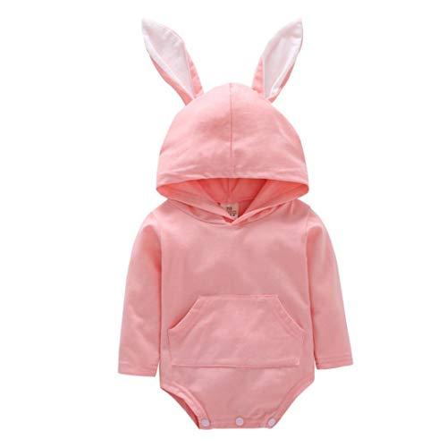 Elecenty Kaninchenohr Strampler,Halloween Langarm Babyartikel Kinderkleidung Mädchenbekleidung...