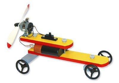 matches21 Propellerfahrzeug Auto Fahrzeug mit Propellerantrieb Bausatz f. Kinder Werkset Bastelset ab 11 Jahren