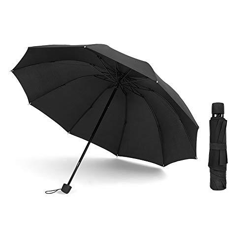 HAIMEI-WU Folding Umbrella Umbrella Strong 10 Knochen Easy to Wind Insubordinators Wasserabweisend Männer Tragen Gefühl Haltbarkeit Regenzeit Business-Gentleman Umbrella 5 Farben Leicht
