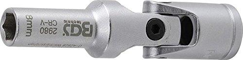 Preisvergleich Produktbild BGS Gelenkeinsatz für Glühkerzen, 10 (3/8) Antrieb, 8 mm, 2980
