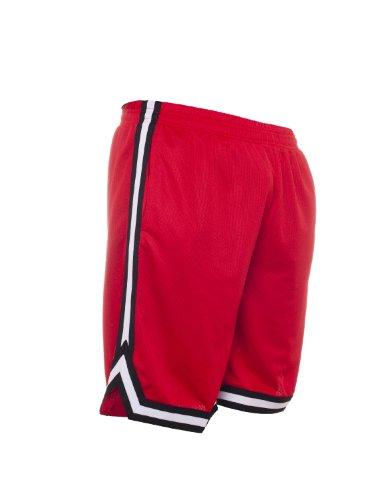 Urban Classics TB243 Herren Shorts Stripes Mesh red-black-white