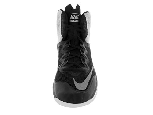 Nike Prime Hype DF II, Chaussures de Sport-Basketball Homme, Taille Black/White/Reflect Silver