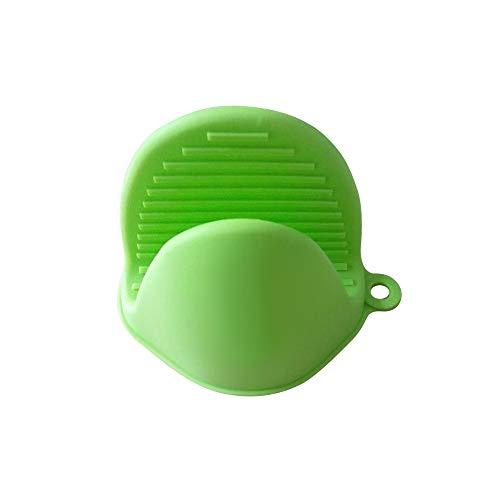ZMDA Handschuhe Küche Silikon Hitzebeständige Handschuhe Clips Dämmung Wasserdicht Anti-Rutsch -Kochen -Backen -Ofen MittsGrün Mitt Grün