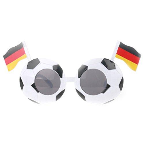 TOYMYTOY Partybrille Fußball-Sonnenbrille-Partei-Neuheit-Abendkleid-Gläser für die Weltmeisterschaft (Deutschland)
