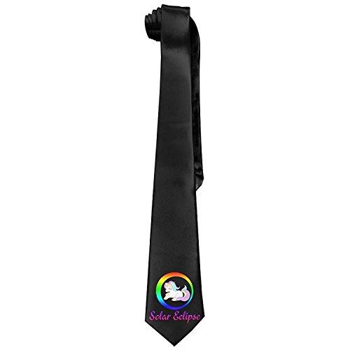 Preisvergleich Produktbild Total Solar Eclipse Rainbow Unicorn Gift Men's Fashion Skinny Necktie Ties Novelty Necktie Silk