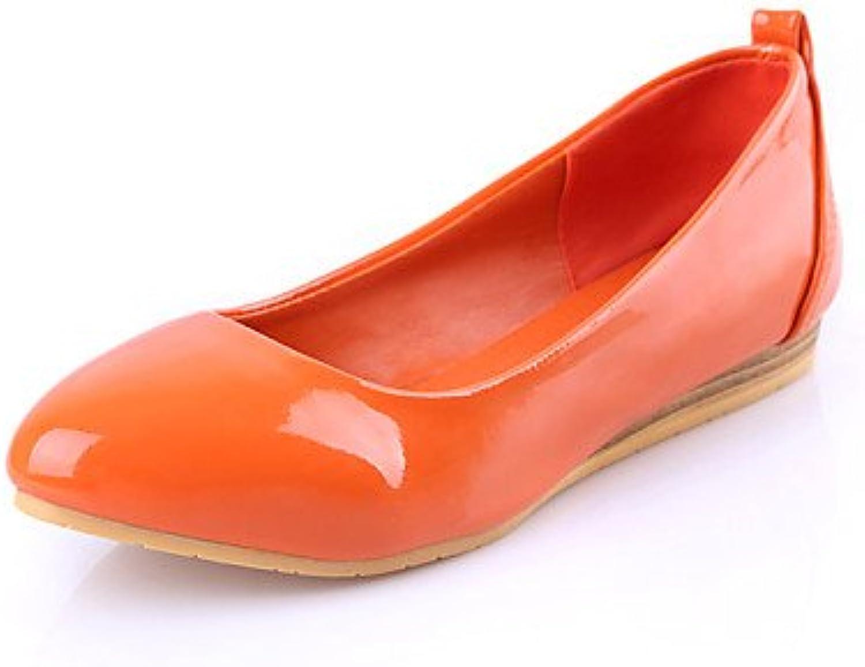 ZQ YYZ Zapatos de mujer - Tac¨®n Plano - Puntiagudos - Planos - Casual - Semicuero - Negro / Azul / Naranja /...