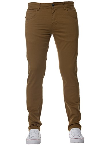 New Mens KRUZE Stretch Skinny Fit Chinos Branded Trousers Pants All Waist